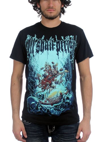 Hommes Noir T Shall Perish Black Deep Sea shirt En All xYHfTwqw