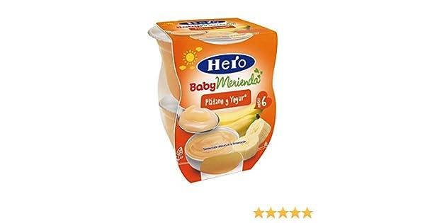 Hero Baby Tarrina Merienda Plátano Yogur - 2 Unidades x 130 gr: Amazon.es: Alimentación y bebidas