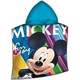 Disney Topolino WD19476 Poncho Mare, Spiaggia, Asciugamano, Cotone, Piscina, Multicolore