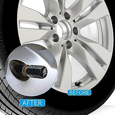 PATWAY 4 Pcs Metal Car Wheel Tire Valve Stem Caps for Acura RLX RDX MDX ILX TLX Logo Styling Decoration Accessories.: Automotive