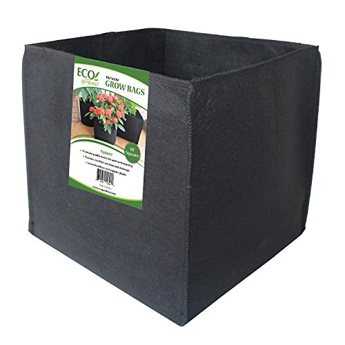 Traditional Barrel Bag (ECOgardener Grow Bags Square Foot Planter Raised Bed Fabric Pot - 12