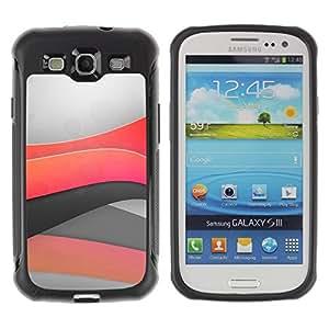 Suave TPU GEL Carcasa Funda Silicona Blando Estuche Caso de protección (para) Samsung Galaxy S3 III I9300 / CECELL Phone case / / Minimal light waves /