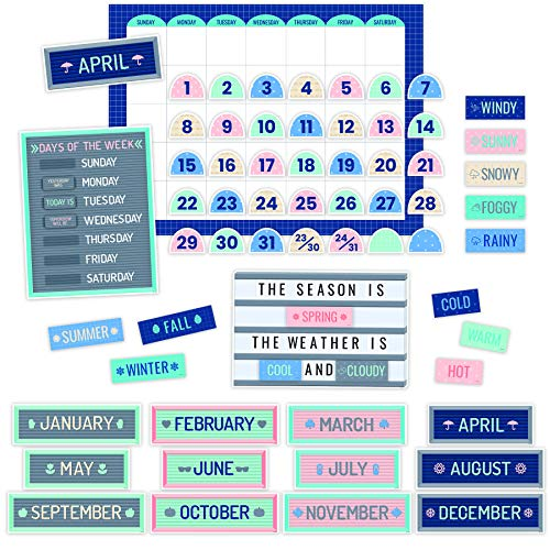 Cool Calendar - Creative Teaching Press Calm & Cool Calendar Set Bulletin Board, CTP 8595