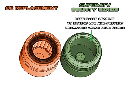 SuperATV Super Duty Bounty Series U Joint/Spider Joint Prop Shaft  Replacement for Polaris RZR 800 900 1000 Turbo/Ranger 570 800 900 1000 /