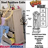 Quakehold! 2830 7-Inch Steel Furniture Cable