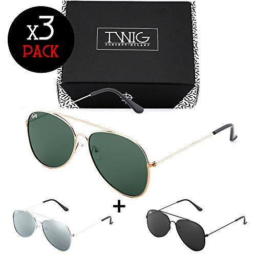 FLAT gafas mujer TWIG sol hombre espejo Pack de Minimal Tres xgAqCHwA
