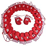 Heaven Tvcz Xmas Accessories Generation 1-24 Glove Calendar Self-Forcing Down Red 2.4M Advent Christmas Decoration Self-Filling Home Office Party