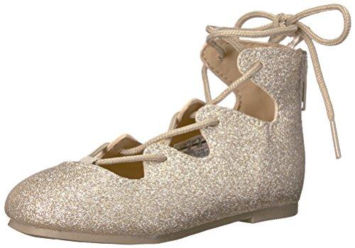 carter's Girls' Mackay Ballet Flat, Gold, 11 M US Little Kid (Girls In Flats)