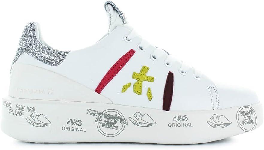 PREMIATA Chaussures Femme Baskets Belle 3141 Blanc Printemps