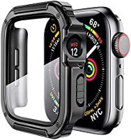 Mesime Rugged Case Compatible for Apple Watch Cover with Tempered Glass Screen for 44mm 42mm 40mm 38mm iWatch Series 6/5...