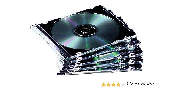 Fellowes 9833801 - Pack de 10 Cajas Estuche para CDs/DVDs ...