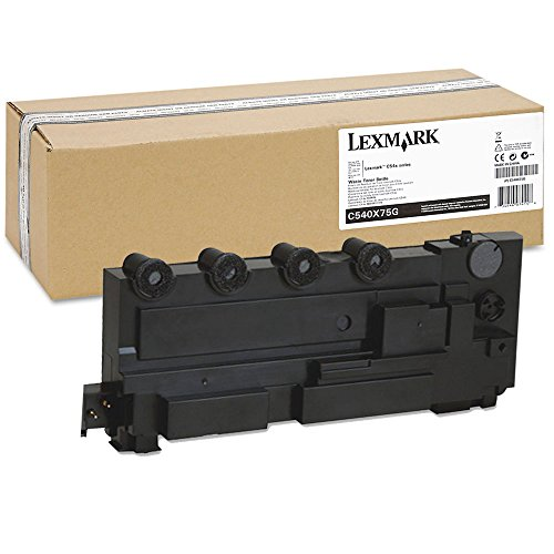Lexmark C540X75G Waste Toner Bottle - OEM, 18000 Yield Color/ 36000 Yield Black - Oem Black Toner Bottle
