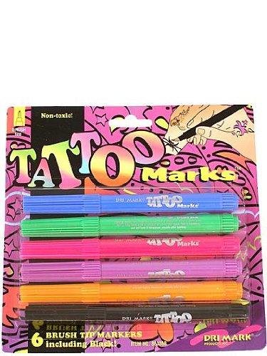 Amazon.com: drimark marcas de tatuaje paquete de 6 ...