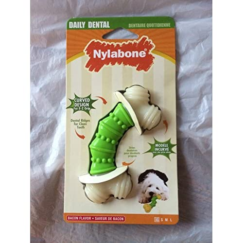 new Nylabone Daily Dental Curve Bacon Flavor X-Small