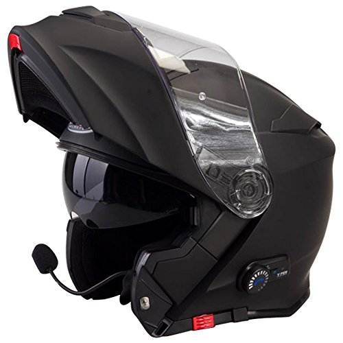 Amazon.es: Viper RS-V171 Bluetooth + 3.0 Casco Modular de Moto * Klasse A * ACU Gold Estampado Negro Mate XL (61-62cm)
