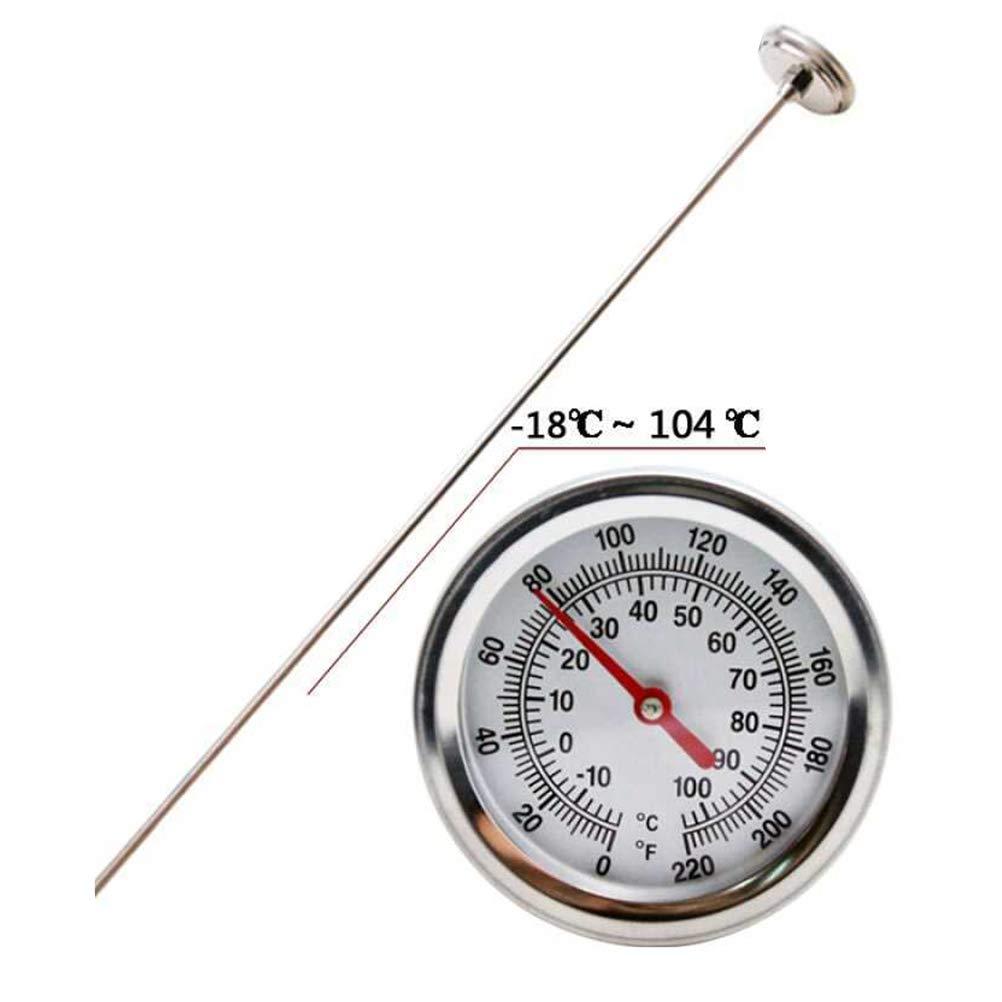 10-100C repiquage Yardwe Compost Thermom/ètre de sol en acier inoxydable Tige de cadran de temp/érature en degr/és Celsius et Fahrenheit pour lensemencement F
