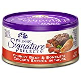 Wellness Signature Selects Natural Canned Grain Free Wet Cat Food, Chunky Beef & Chicken, 2.8-Ounce Can (Pack of 24)