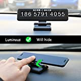 Car Parking Card Telephone Number Card Notification Night Light Car Styling Phone Number Night Light Card Accessories