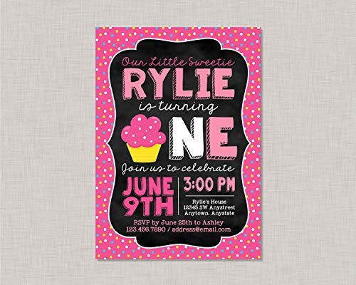 (weewen Cupcake First Birthday Invitation Cupcake 1St Birthday Invitation Cupcake Birthday Invitation Girl First Birthday Invitation Girl Birthday Wooden Sign)