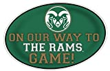 COLORADO STATE RAMS HEADING TO THE GAME-COLORADO STATE UNIVERSITY 11X17 INCH JUMBO CAR MAGNET