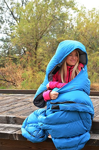 KLYMIT KSB 35 Degree Down Sleeping Bag (New for 2018), Blue by Klymit (Image #5)