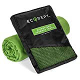 "Microfiber Travel Towel by ECOdept - Large 52"" x 32"" with Free Hand Towel in Gift Box - Super Absorbent and Quick Dry - Antibacterial - Best for Backpacking, Beach, Camping, Gym, Swimming & Sports"