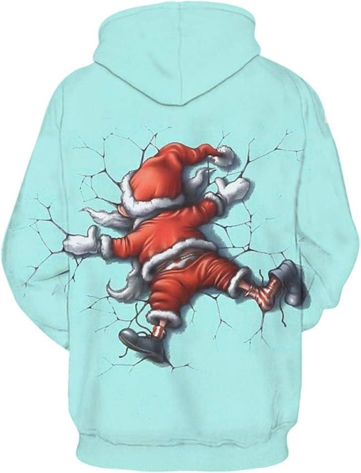 jiuyaomai Sweatshirt Otoño e Invierno Santa Claus 3D impresión ...