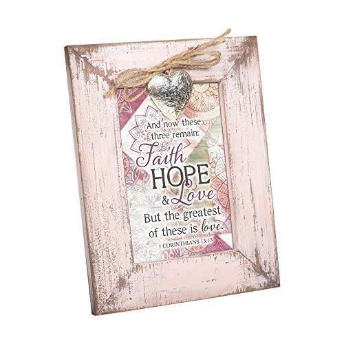 Cottage Garden One Set Footprints I Carried You Blush Pink Distressed Locket Easel Back Picture Frame -