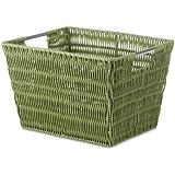 Whitmor Rattique Small Storage Tote Sage Green