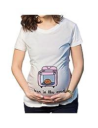 Q.KIM Maternity Top Short sleeves Funny Pregnancy Tee Cute Pregnant T shirts