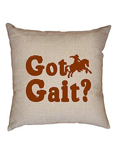 Hollywood Thread Got Gait? - Equestrian Horse Riding Decorative Linen Throw Cushion Pillow Case with - Horse Got Gait
