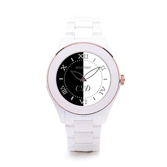 4c1373320705 Algunos diferentes hombres de cerámica color blanco reloj de pulsera marcas   Amazon.es  Relojes