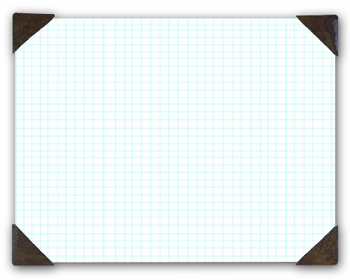 House of Doolittle Doodle Desk Pad, Quadrille, Refillable, 22 x 17 Inches -