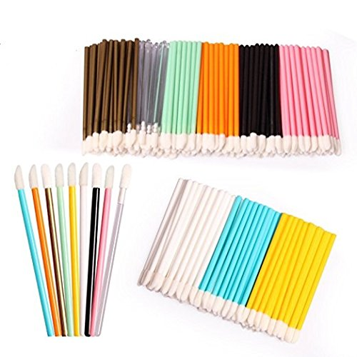 450PCS Disposable Lip Brushes Lipstick Applicator Makeup Tool Kits, Multicolored Makeup Brush Beauty Tool Erlvery DaMain