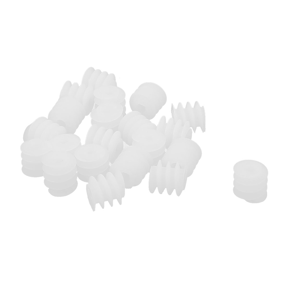 uxcell 20 Pcs 2mm Hole 6mmx6mm Worm Gear for DIY Toy Motor Reduction Box