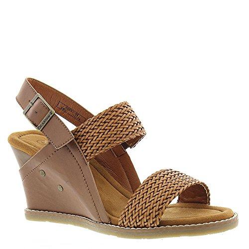 Slingbacks Brown Shoes (Bearpaw Women's Racquel Comfort Slingback Wedge Sandals, Brown, 9 M)