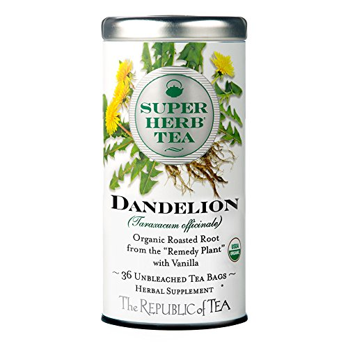 The Republic of Tea Organic Dandelion SuperHerb Herbal Tea, Caffeine-Free, Non-GMO Verified (36 Tea Bags) from The Republic of Tea
