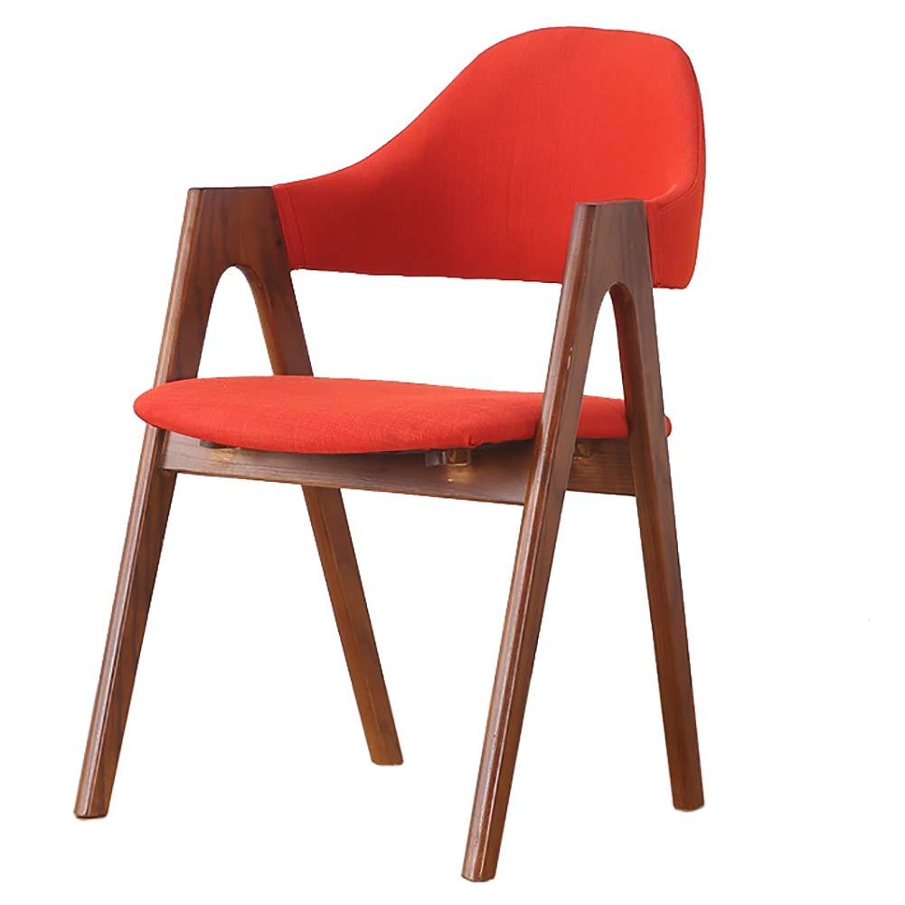 Amazon.com: Silla de comedor de madera maciza, sillón de ...