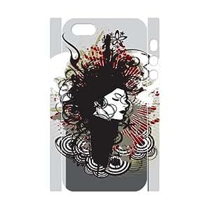 Iphone 5,5S Skull 3D Art Print Design Phone Back Case Custom Hard Shell Protection TY078045