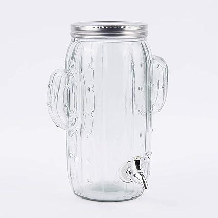 Dispensador de Bebidas Cristal Cactus Transparente 4 litros, 23 x 29 cm
