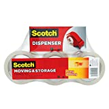 Scotch Long Lasting Storage Packaging Tape, 1.88 Inches x 54.6 Yards, 6 Rolls with Refillable Dispenser (3650-6-DP3)