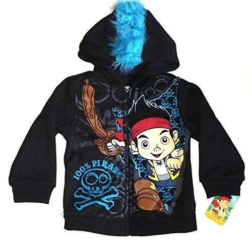 Disney's ~Jake & The Neverland Pirates Mohawk Jacket~ Toddler 3T Black]()