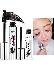 DDK 4D Mascara Cream Makeup Lash Cold Waterproof Mascara Eye Black Eyelash Extension crazy long Style Warm Water Washable Mascara