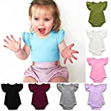 TATGB Girls Ruffles Sleeve Romper Playsuit Clothes Outfits Clothes 7Colors 6-24M
