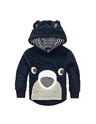 CuteOn Little Boy Toddler Fleece Hoodie Coat Warm Jacket