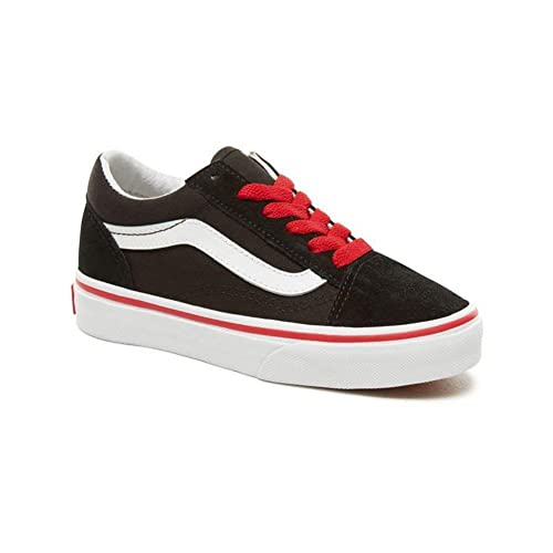 Vans Old Skool Youth Lace Kids Suede Panel Trainers  Amazon.co.uk  Shoes    Bags 7adbc834b