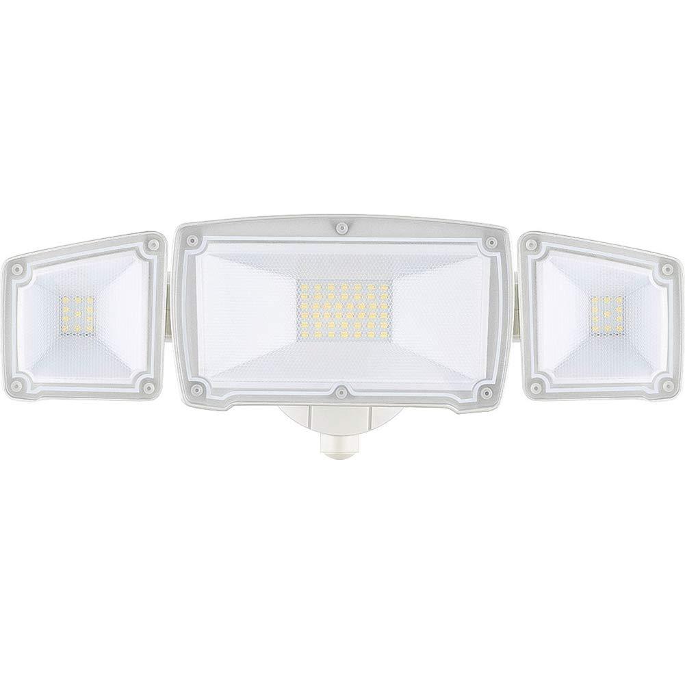 LEPOWER 3000LM LED Security Light, 30W Super Bright Outdoor Flood Light, ETL- Certified, 5500K, IP65 Waterproof, 3 Adjustable Heads for Garage, Patio, Garden, Porch&Stair(White Light)