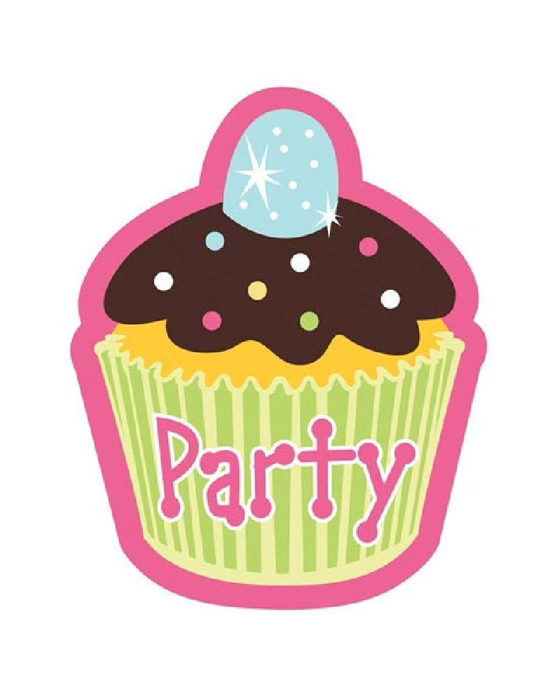 Bargain World Cupcake Party Invitations (8/pkg) (with Sticky Notes)
