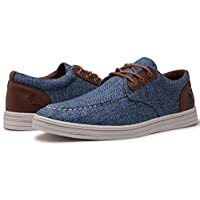 GLOBALWIN Mens 1803 Blue Fashion Casual Loafers Lace Up Boat Shoes Size 8.5