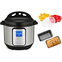 Instant Pot Duo Plus 6 Quart Electric Pressure Cooker with Silicone Egg Set and 2-Nonstick Mini Loaf Pan